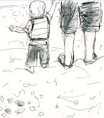 Theo on the beach